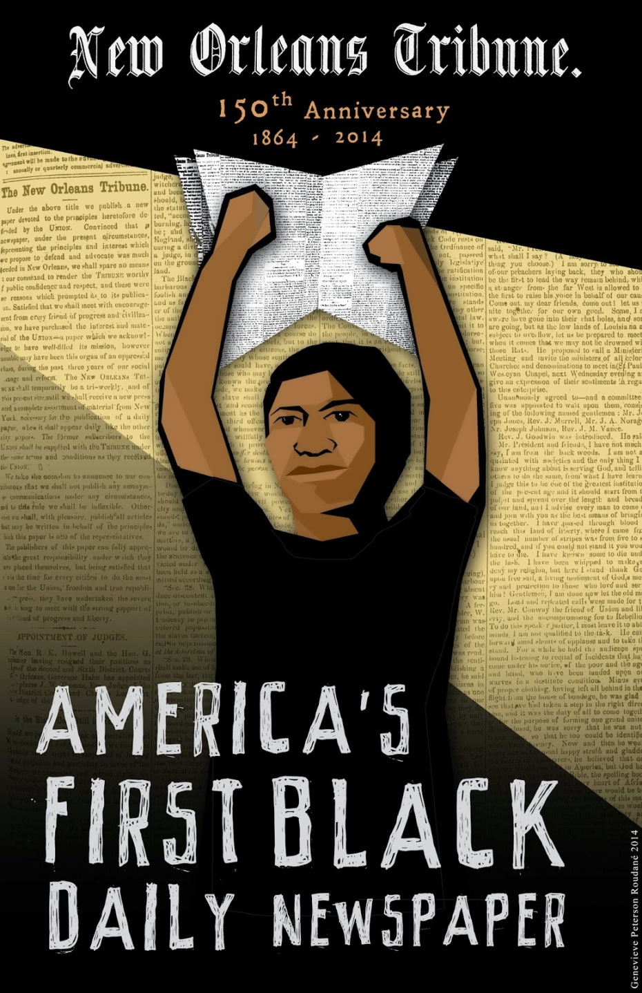 America's First Black Daily Newspaper poster by Genevieve Roudané